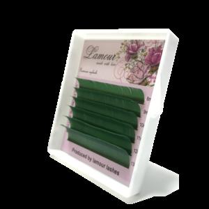 зеленые ресницы