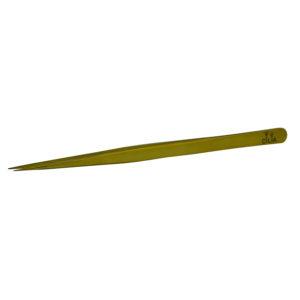 Острый пинцет для ресниц Cilia IQ Gold